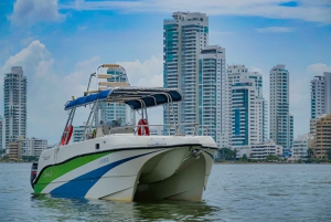 Cartagena: 2.5-Hour Sunset Boat Party with Free Beer