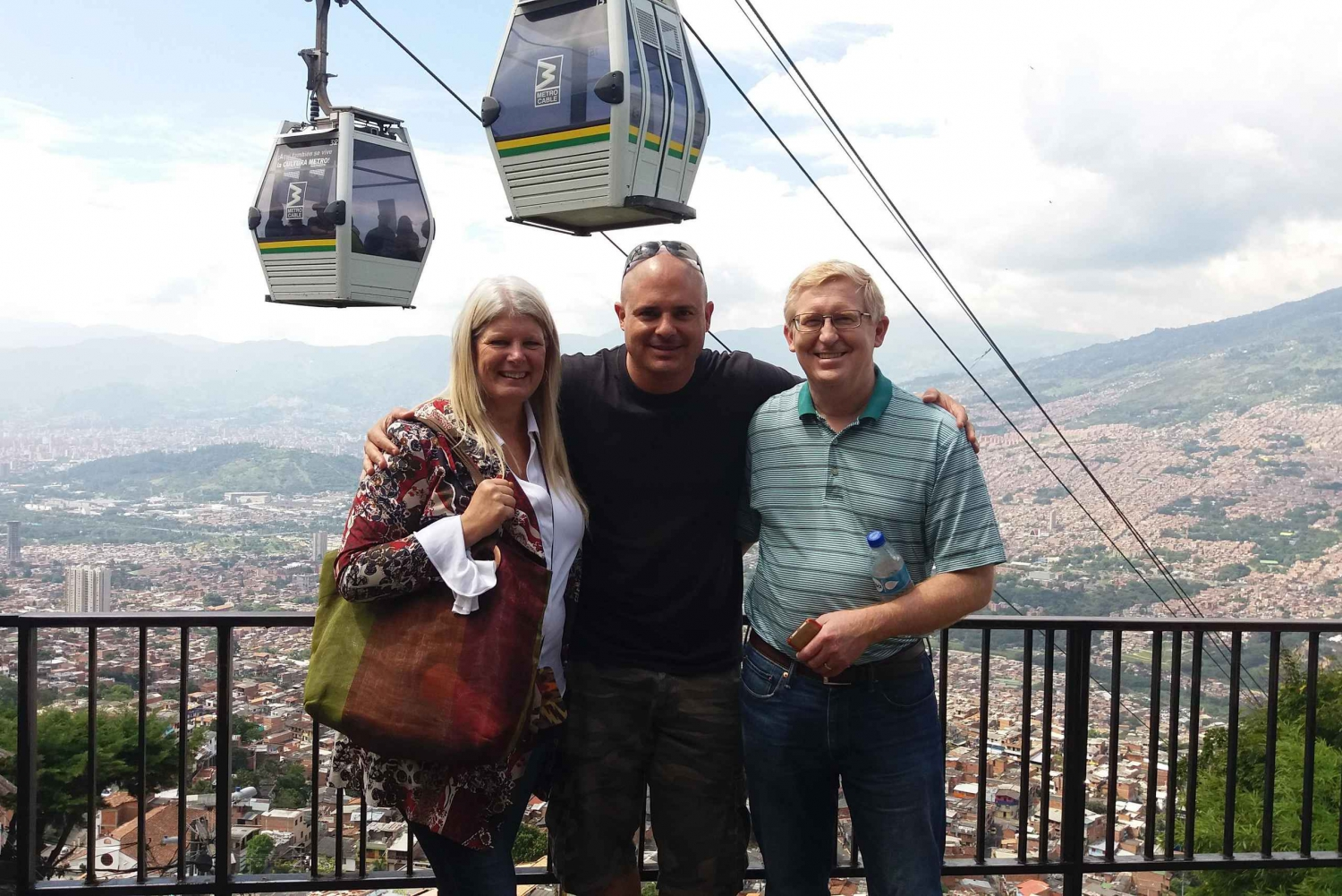 Medellin Metro Cable Cars, Downtown & Botero Plaza