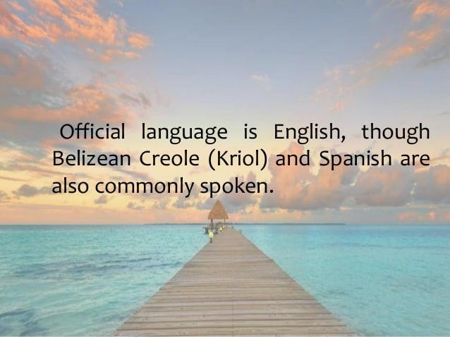 Belize Kriol Language