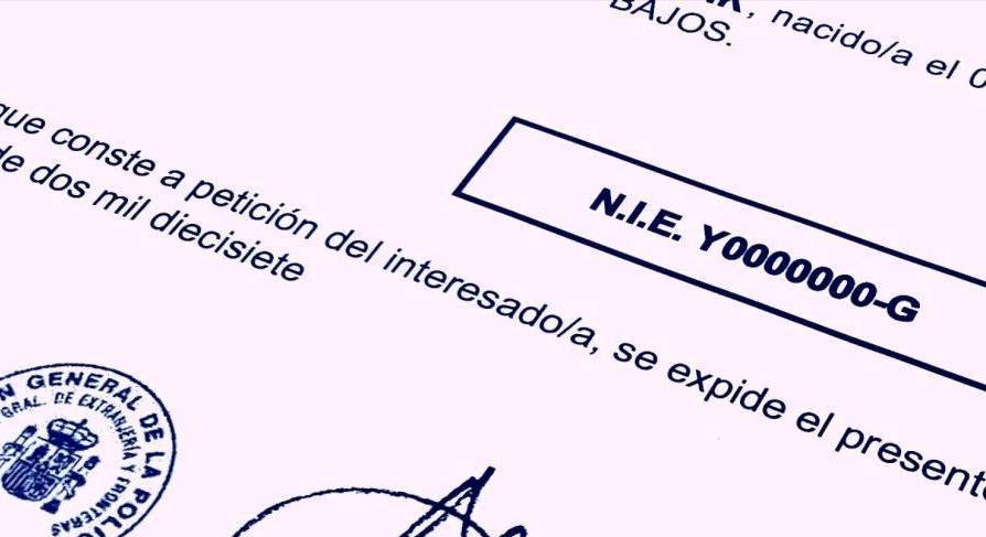 Spanish NIE Numbers