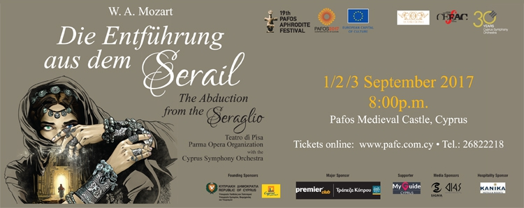 19th Pafos Aphrodite Festival presents Mozart's Die  Entfûhrung aus dem Serail (The Abduction from the Seraglio)