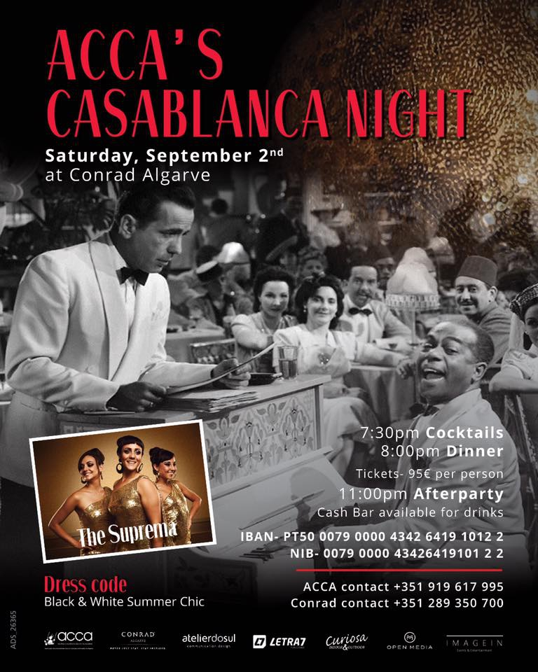 ACCA Charity Casablanca Night at Conrad Algarve