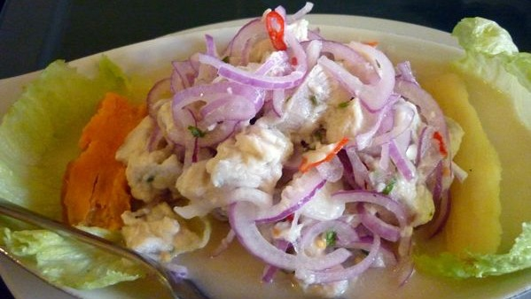 Ceviche, an appetizer loved by Panamanians