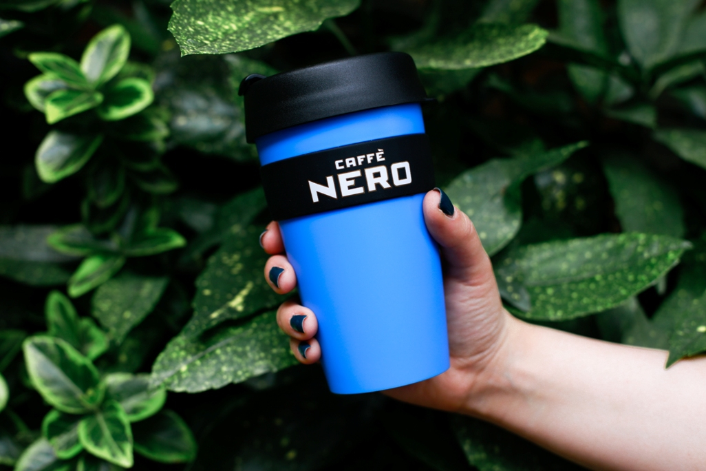 Go green with your blue KeepCup from Caffe Nero