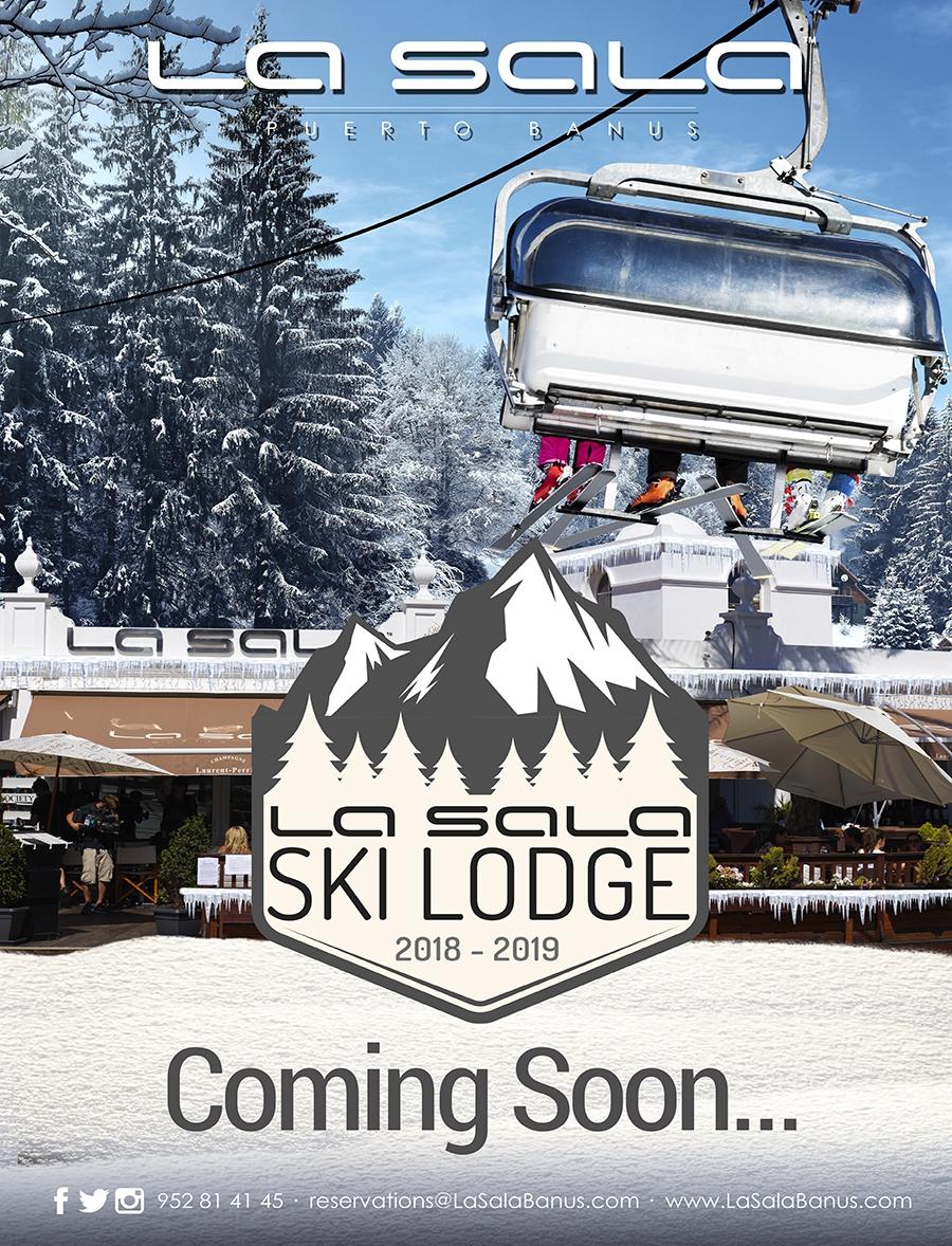 La Sala Ski Lodge ready for Christmas