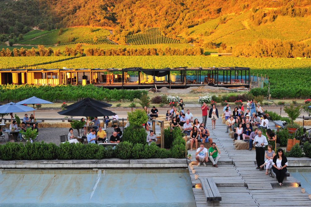 Music and wine at Sunset Viña Montes in ApaltaMusic and wine at Sunset Viña Montes in Apalta