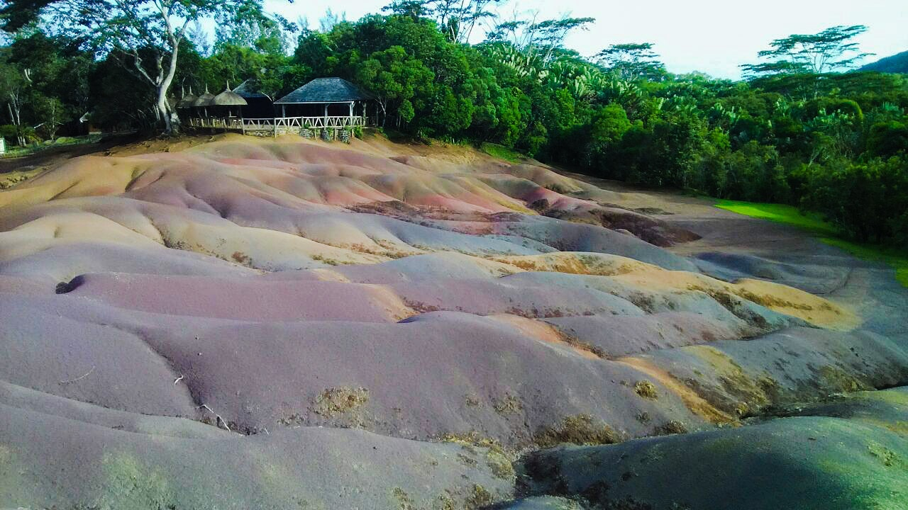 Seven Coloured Earths at Chamarel
