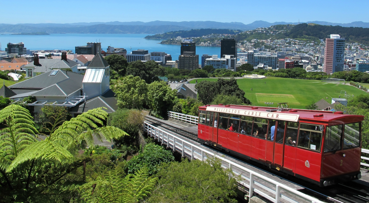Taking A Ride On The Wellington Cable Car