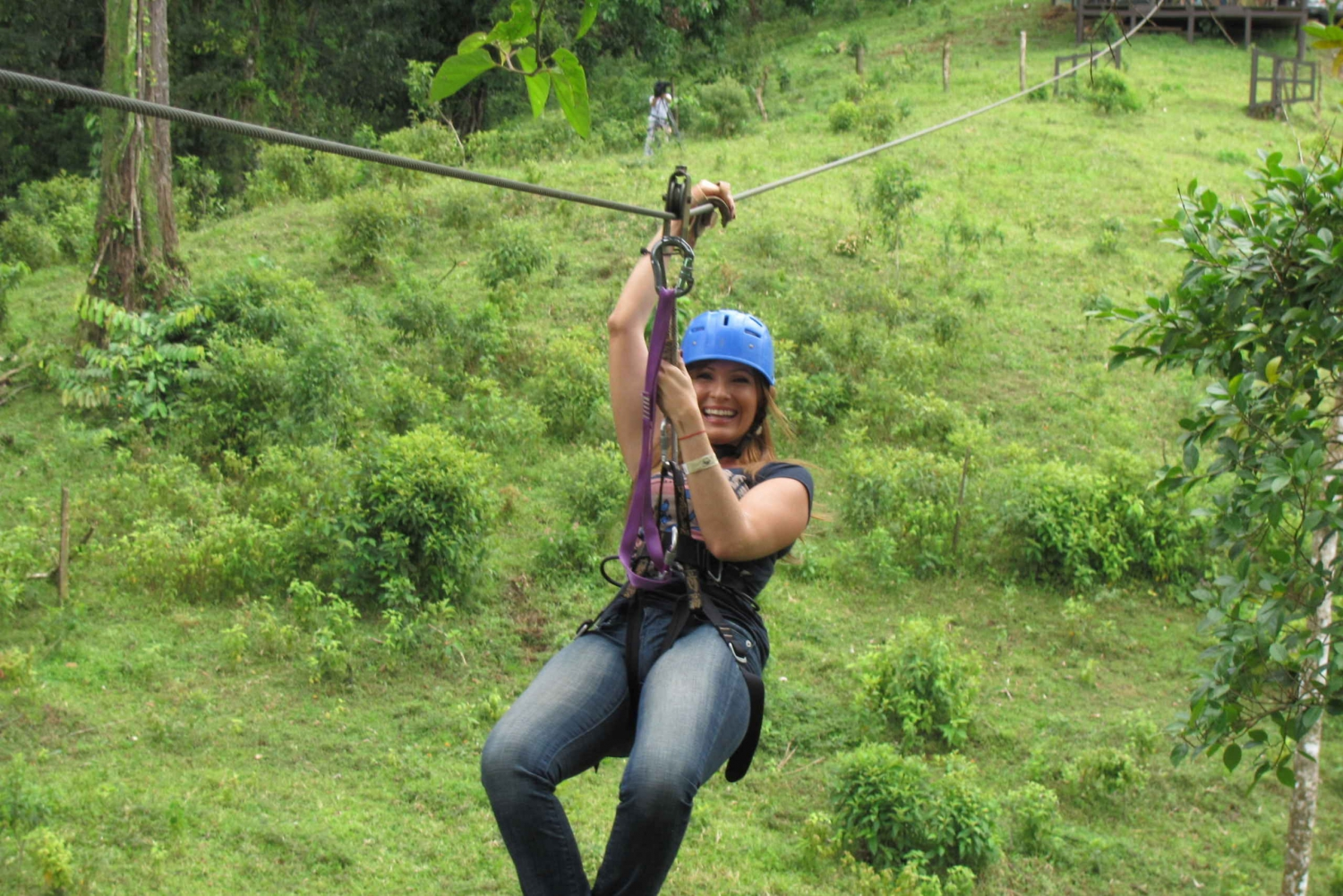 Rincon Vieja Volcano Zipline and Hot Springs Day Tour
