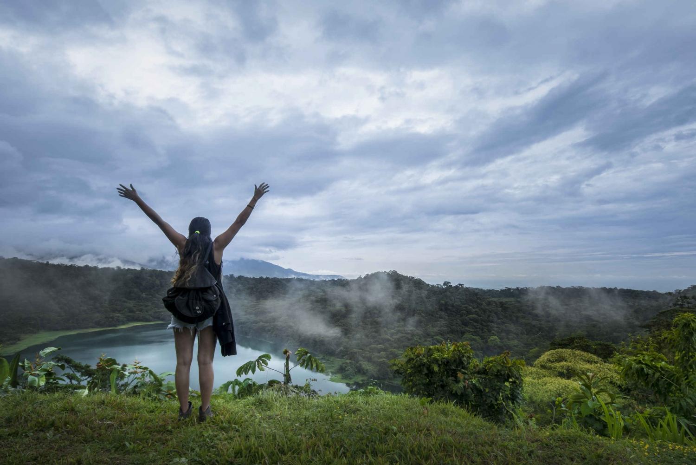 Trekking in Hule Lagoon Volcanic Crater