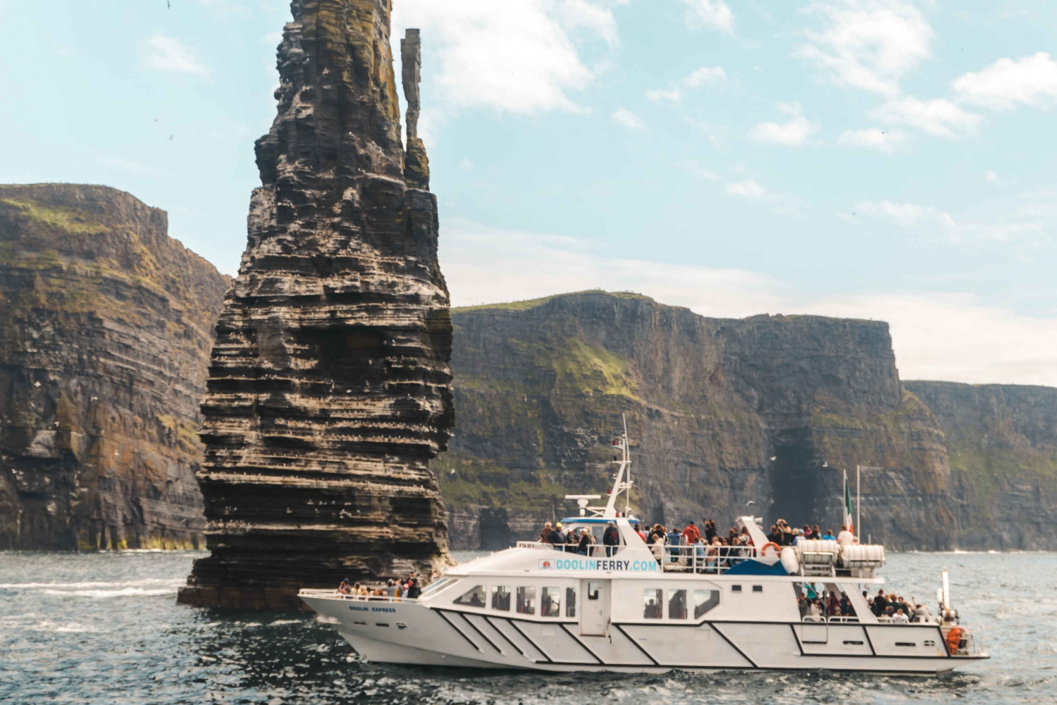 From Doolin: Cliffs of Moher Cruise & Visitor Centre
