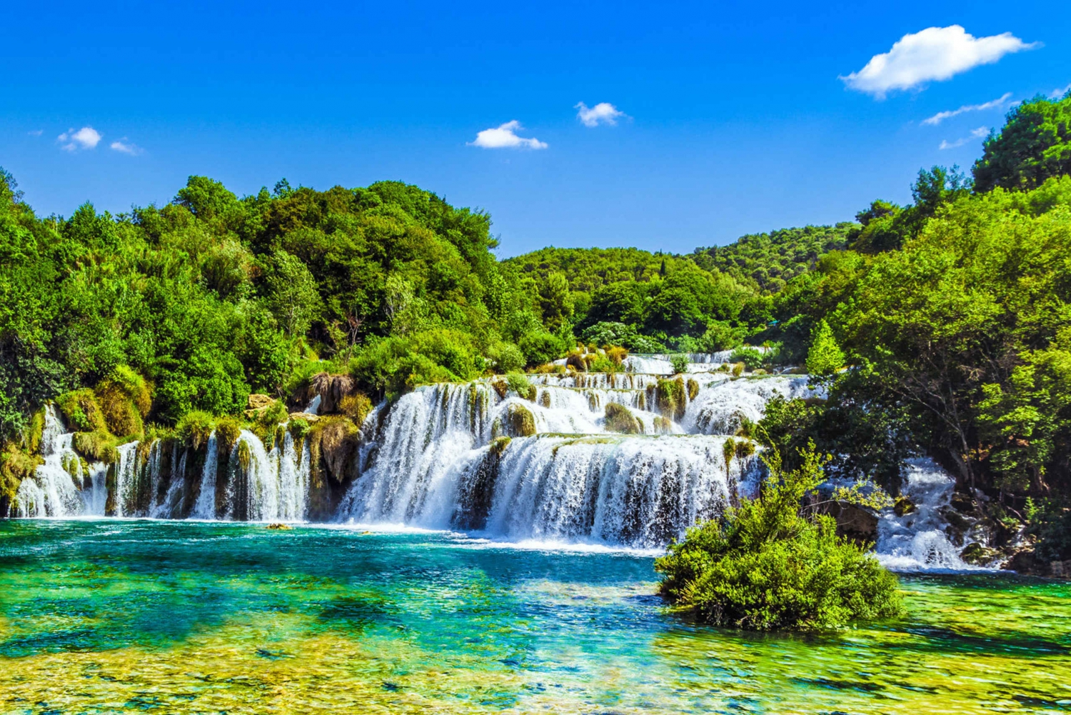 From Split: Krka Waterfalls Tour
