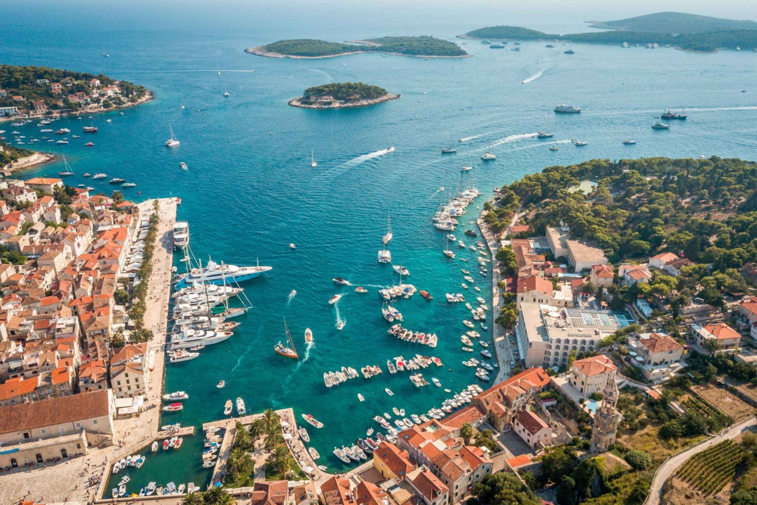 From Trogir/ Split: Hvar & Pakleni Islands Private Boat Tour