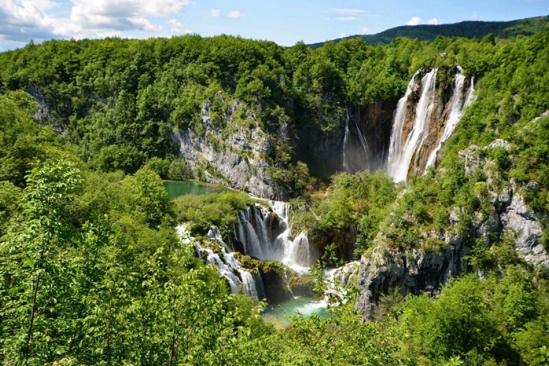 From Zagreb: Trogir or Split Transfer & Plitvice Lakes Tour