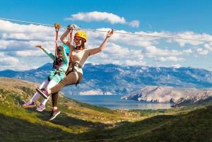 Krk Island: Ziplining Tour