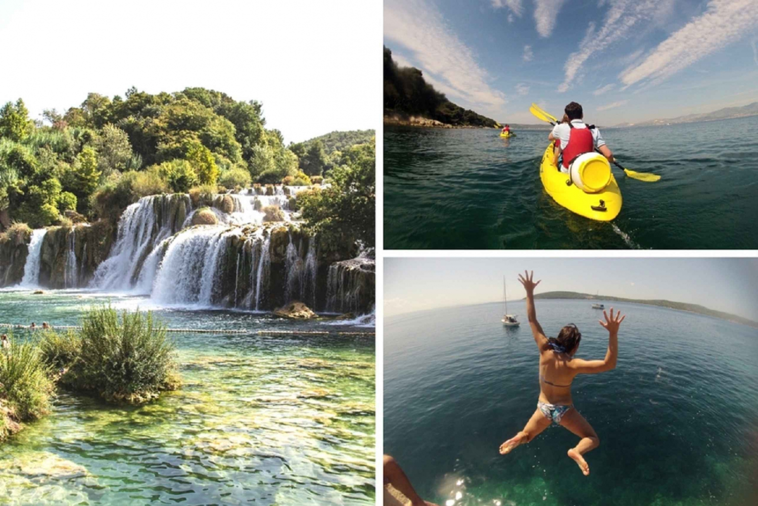 Krka Waterfalls and Morning Sea Kayaking in Split