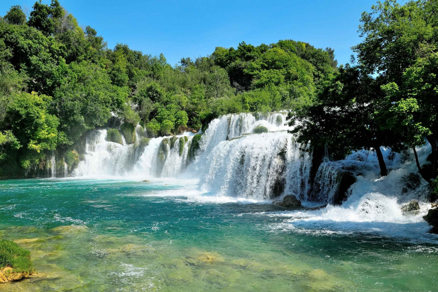 Krka Waterfalls & Guided Tour of Trogir From Split