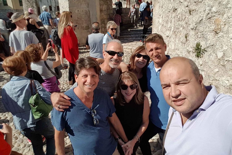 Split to Dubrovnik via Mostar: Private Day Trip