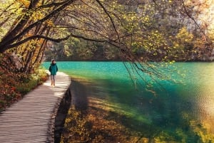 Split to/from Zagreb Transfer with Entry to Plitvice Lakes