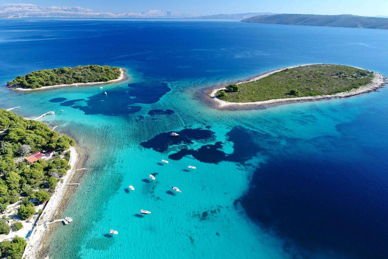 Split & Trogir: Private Blue Lagoon & Wine Tasting Boat Tour