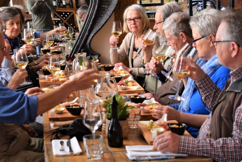 Split Wine and Food Tasting