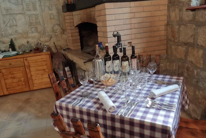 Split: Winery Tour and Food Tasting