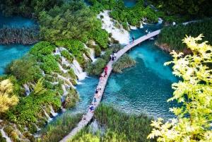 Transfer between Zagreb and Split: Stop at Plitvice Lakes