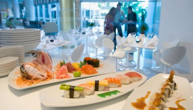 Shumi Sushi bar at the Mediterranean beach hotel