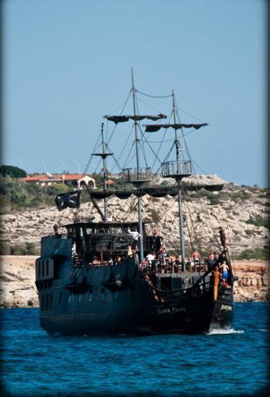 The Black Pearl Pirate Boat in Cyprus