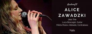 Alice Zawadzki Jazz Trio Live