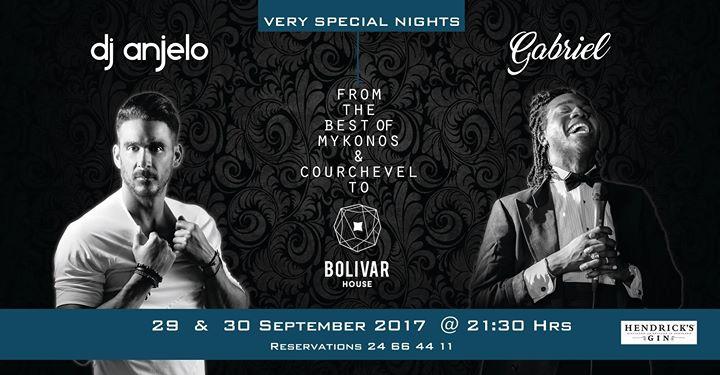 DJ Anjelo + Singer Gabriel 29 & 30 SEP