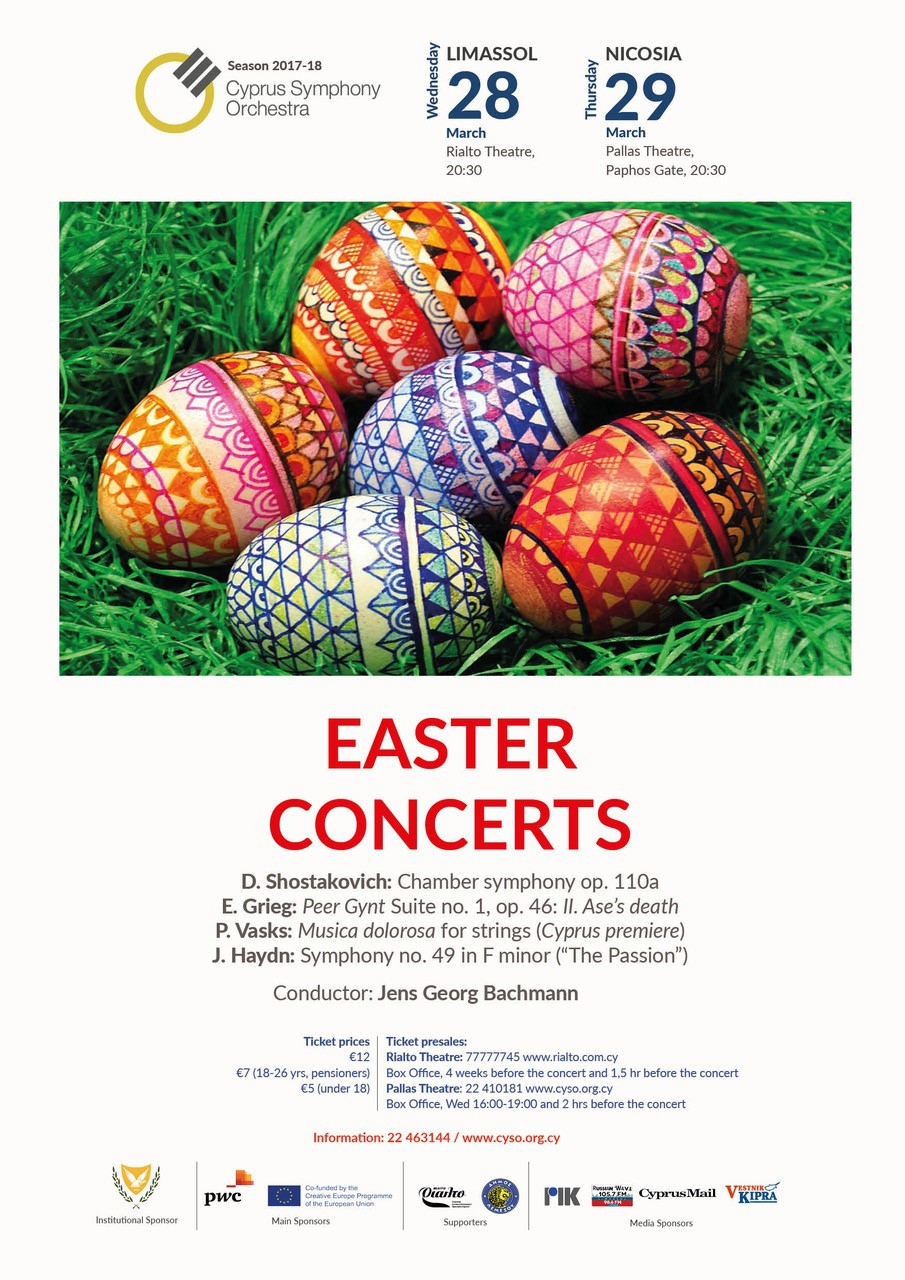 Easter Concerts by the Cyprus Symphony Orchestra