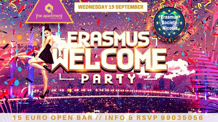 ✪ Erasmus Welcome Party ✪ Open Bar ✪