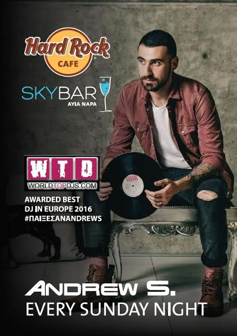 Europes Top DJ Andrew S every Sunday night at Skybar at Hard Rock