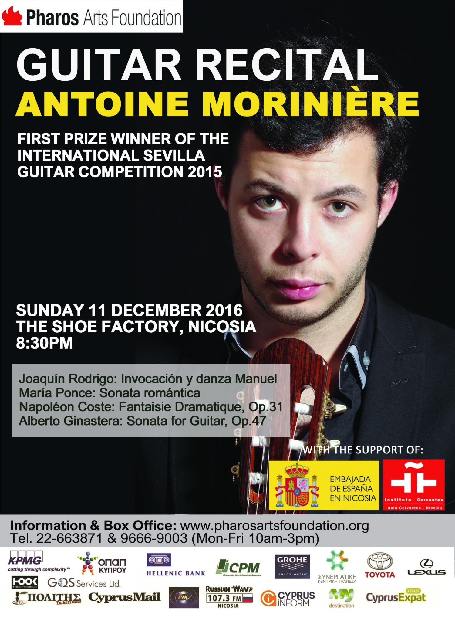 Guitar Recital: Antoine Moriniere
