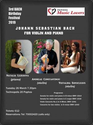 Johann Sebastian Bach for violin & piano