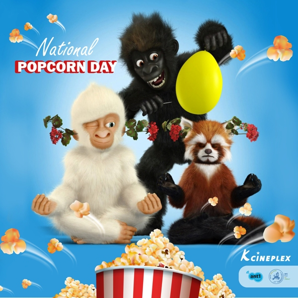 National Popcorn Day - 19th January 2019 at K Cineplex