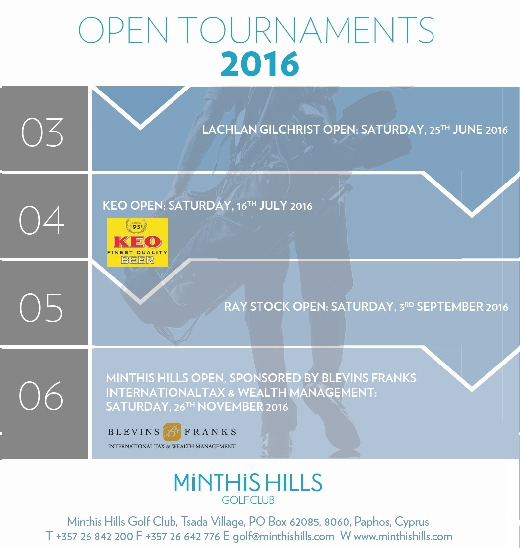 Open Tournaments 2016 at Minthis Hills Golf Club