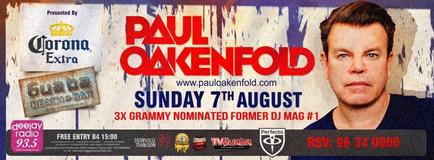 Paul Oakenfold @ Guaba Beach Bar in Limassol, Cyprus