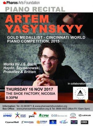 Piano Recital: Artem Yasynskyy