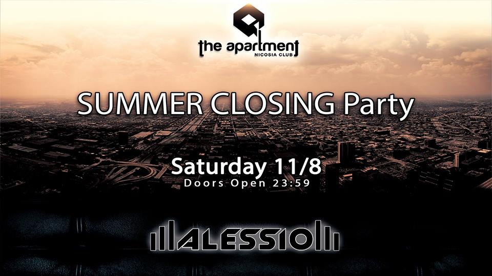 Summer Closing party with guest dj Alessio