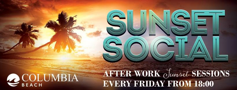 The after work sunset social sessions at Columbia Beach