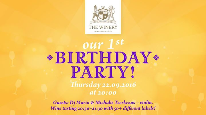 The Winery 1st Birthday Party!