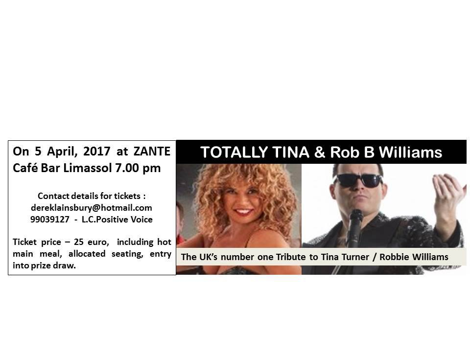Totally Tina and Rob B Williams Charity Event
