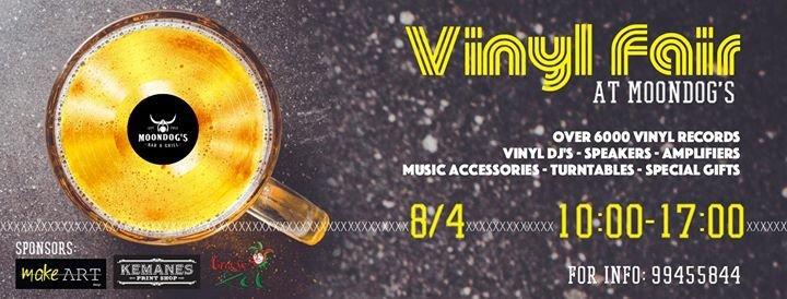Vinyl Fair at Moondog's 8/4/17
