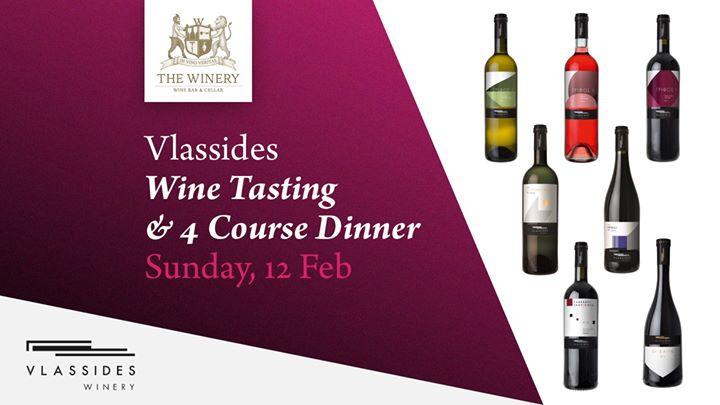 Vlassides Wine Tasting & 4 course dinner