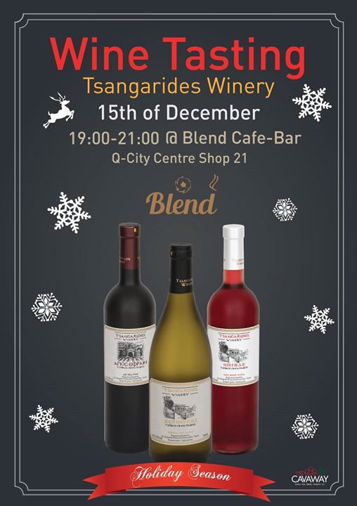 Wine Tasting -Tsangarides Winery