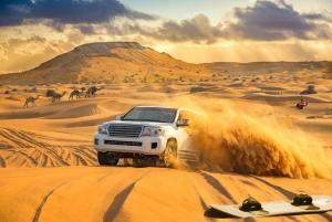 Desert Safari, Camel Ride, Sandboarding & BBQ Options