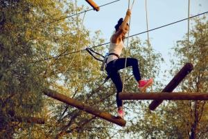 Dubai: Aventura Park Leap of Faith Experience