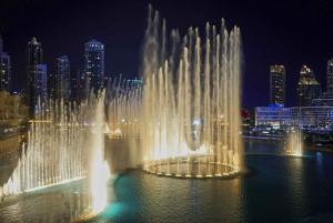 Dubai: Fountain Show and Burj Lake Ride by Traditional Boat